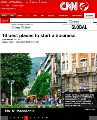 CNN: Macedonia in the top 10 places in the world to start a business