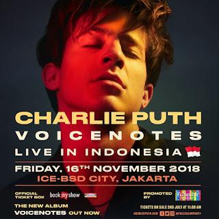 Daftar Harga Tiket Konser Charlie Puth Di Indonesia