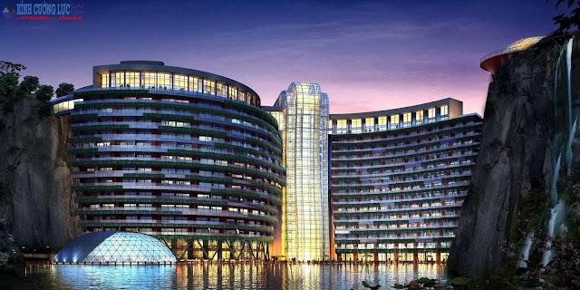 Khách sạn kính cường lực năm sao dưới lòng đất tại Thượng Hải: Tuyệt tác đẹp như tranh vẽ