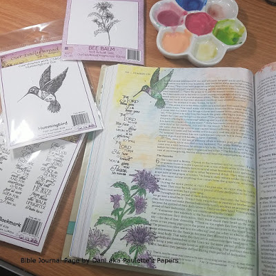 ODBD Scripture Bookmarks, ODBD Bee Balm, ODBD Hummingbird, Bible Journal Page by Dani aka Paulette's Papers