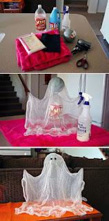 manualidad de fantasma para halloween