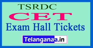 TSRDC CET Exam Hall Tickets 2017 Download