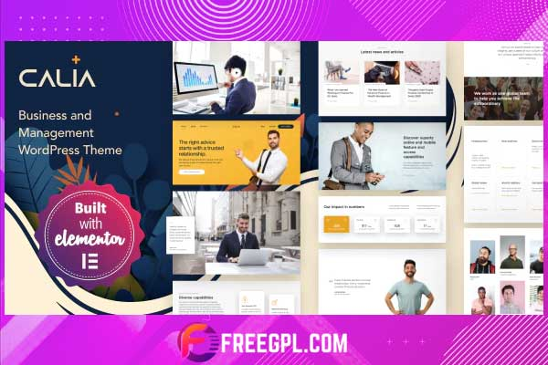 Calia - Business and Management WordPress Theme Nulled Free Download
