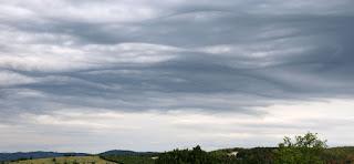 Strange wavy sky