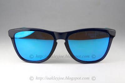 blue oakley frogskins 30qs  oo9245-12 Frogskins Moto Collection asian fit nitrous + 24k iridium $190  lens pre coated with Oakley hydrophobic nano solution