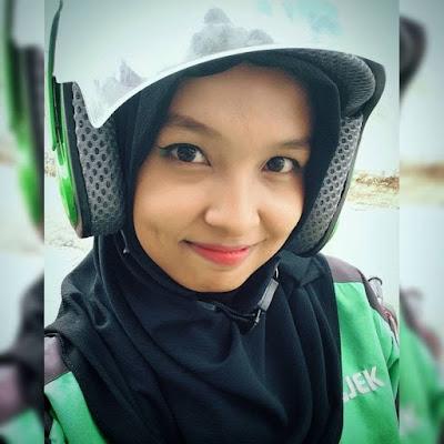 anggota driver gojek cantik hijab bandung surabaya semarang jogja jakarta