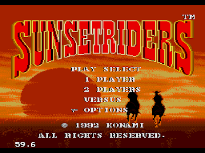 【MD】落日騎士(Sunset Riders)原版+多命版,經典西部牛仔槍戰遊戲!