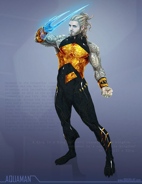 Art Of Ogi Grujic Dc Remix Aquaman