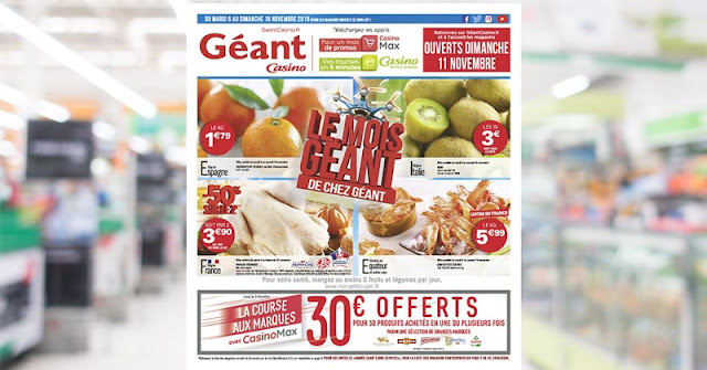Catalogue Géant Casino Du 6 Au 18 Novembre 2018