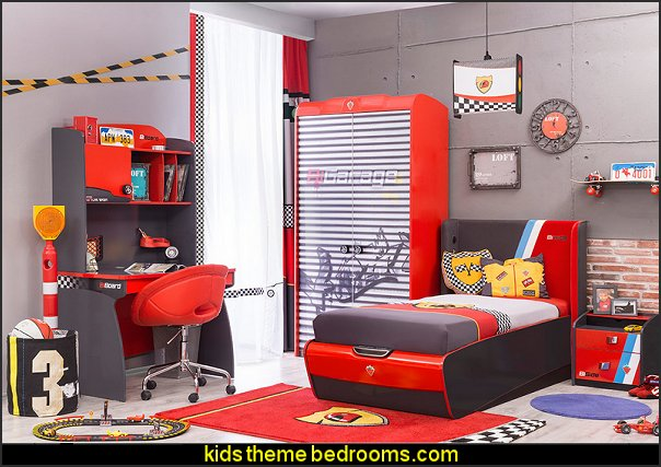 twin race car bed toddler car beds themed beds boys cars  Auto Mechanic Bedroom ideas