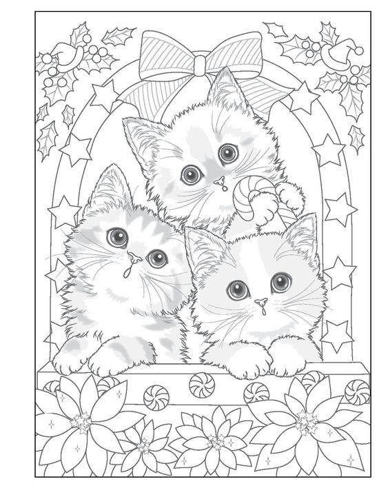 Tranh tô màu ba chú mèo