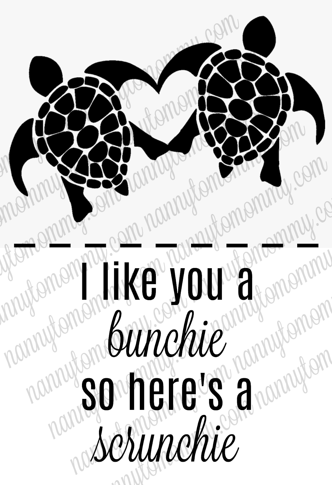 save the turtles scrunchie valentine idea