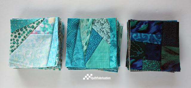 scrap fabric squares
