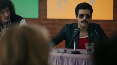 Rami Malek as Freddie Mercury in Bohemian Rhapsody wearing Aviator Sunglasses 2