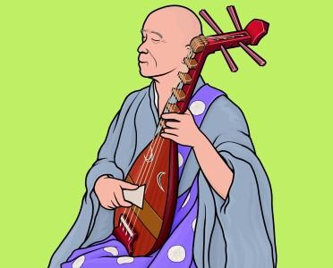 楽器事典:盲僧琵琶 もうそうびわ