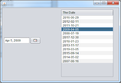 Show Date From JTable To JDateChooser In Java