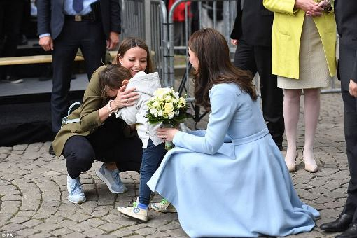 Little boy, overcome with emotion, bursts into tears on meeting the Duchess of Cambridge