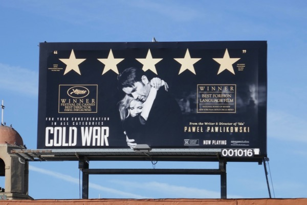 Cold War movie FYC billboard