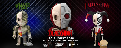 DC Comics XXRAY Dissection Suicide Squad Series 4 Vinyl Figures by Jason Freeny & Mighty Jaxx - Harley Quinn, Deadshot & Killer Croc