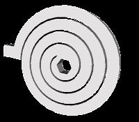 Spiral torsion spring