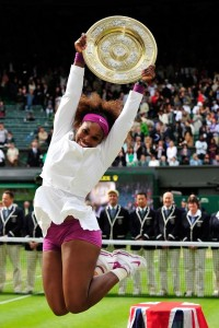 Serena Williams celebrate