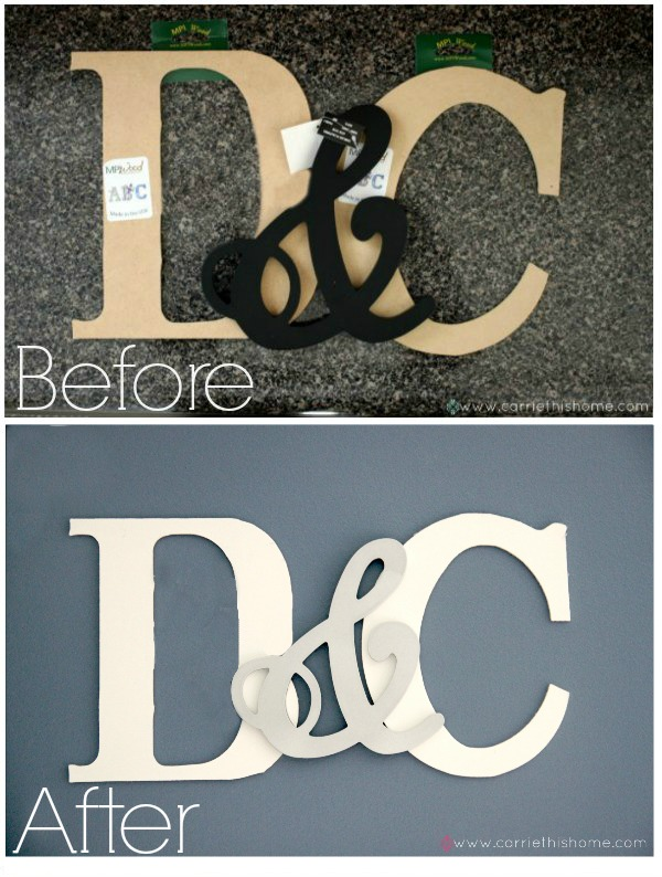 5+How to make your own monogram1 16 Spring Home Decor Projects 39