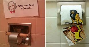16 Graciosos actos de vandalismo encontrados en baños públicos
