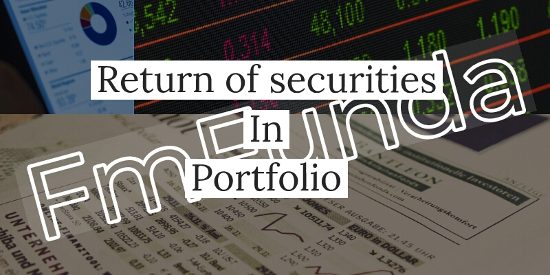 return of securities in portfolio