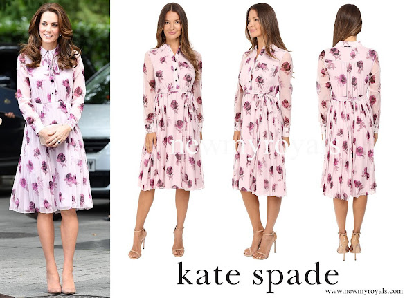 Kate Middleton wore Kate Spade New York Encore Rose Chiffon Dress