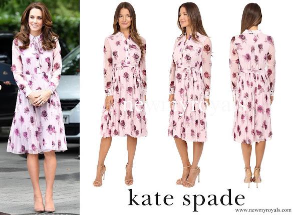 Kate Middleton wore Kate Spade New York Encore Rose Chiffon Dress