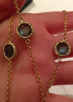 36 inch labradorite and gold necklace by Susan Wheeler Designs