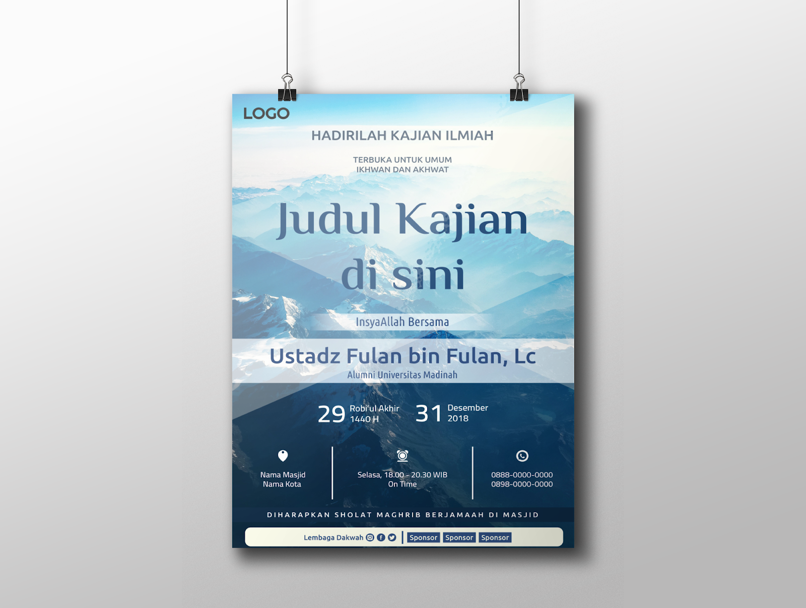 template poster tabligh akbar 4