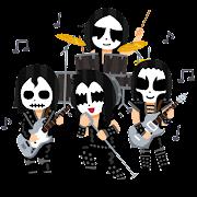 ブラックメタルバンドのイラスト