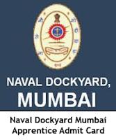 Naval Dockyard Mumbai Apprentice Admit Card