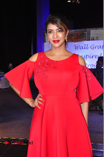 Actress Manchu Lakshmi Pictures in Red Long Dress .COM 0080.JPG