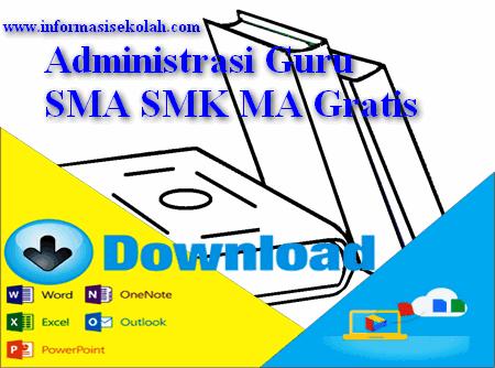 Download Contoh Dokumen Administrasi Guru SMA SMK MA Gratis
