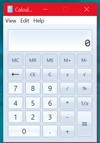 Computer blog: Get the old calculator on Windows 10