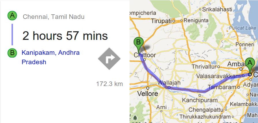 Return trip - Chennai - Kanipakkam - Kalahasti - Chennai | Rajeswar