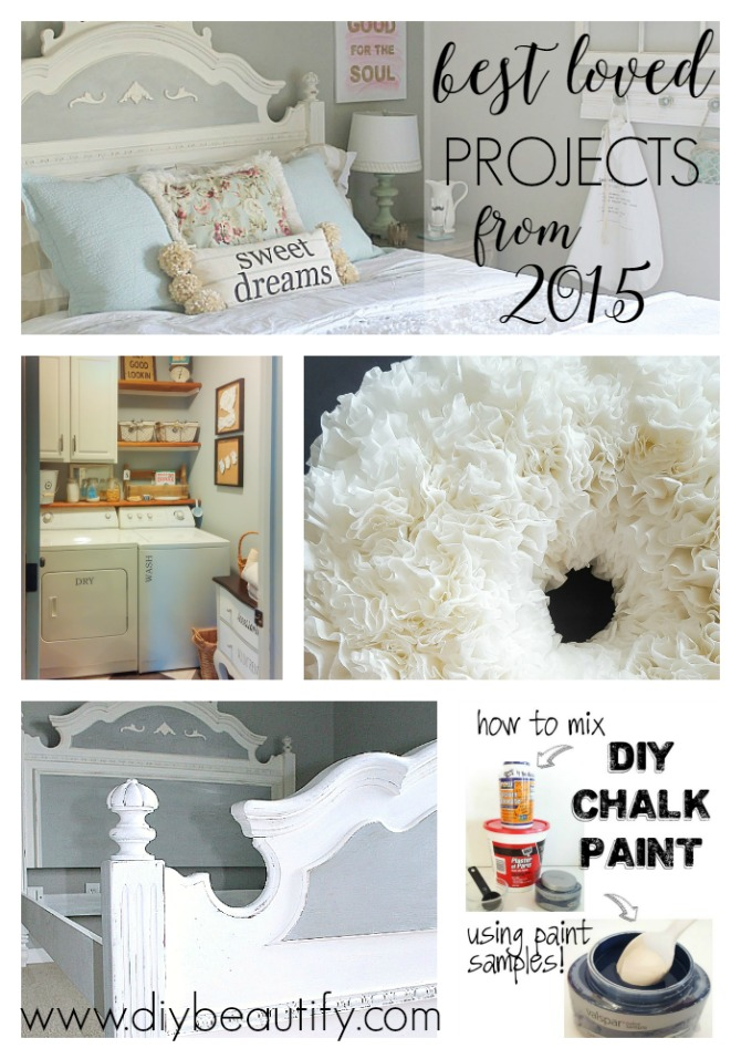The top 5 projects from diy beautify for 2015, including room makeovers, painted furniture and crafts! You'll find them all at diy beautify.