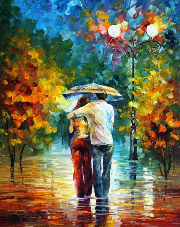 Amores - Pinturas de Leonid Afremov | O mestres da  espátula