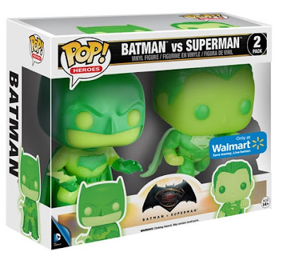 Walmart Exclusive Kryptonite Green Glow in the Dark Batman v Superman: Dawn of Justice Pop! Heroes Box Set by Funko