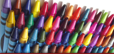 multiple colors of crayons