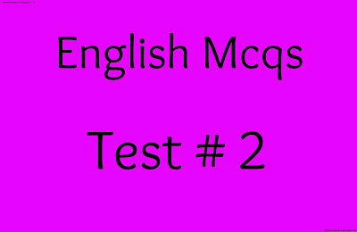english mcqs test no 2