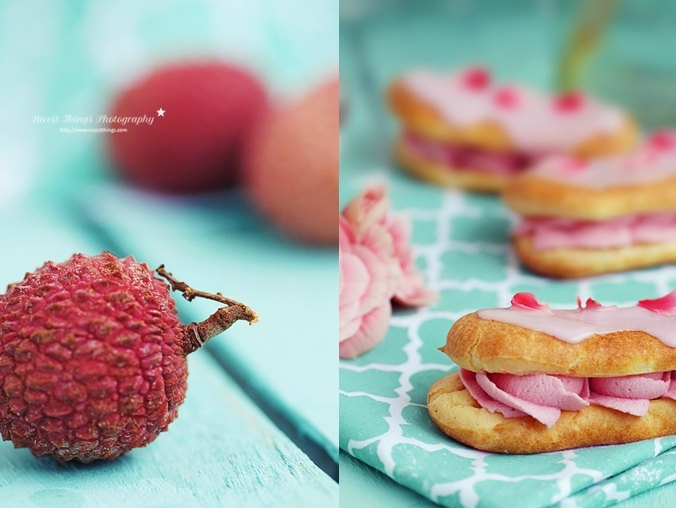 Lychee Dessert Rezept Eclairs