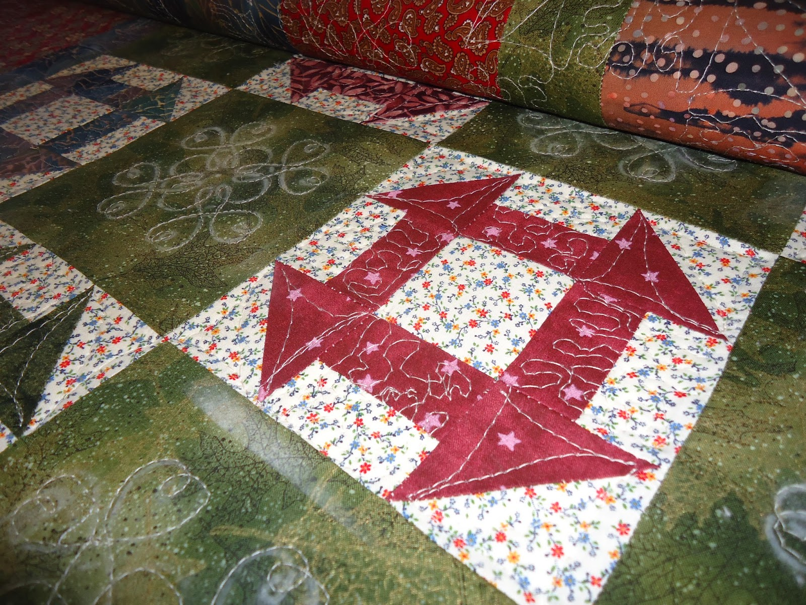 Queen City Quilter: Finished Hole in the Barn Door.