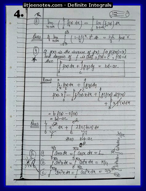 definite integrals 4