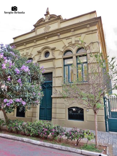 Vista da fachada do antigo Casarão de Alfredo Prates - Campos Elíseos - São Paulo