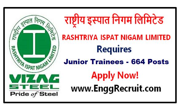 RINL Recruitment 2018 for Junior Trainees - 664 Posts