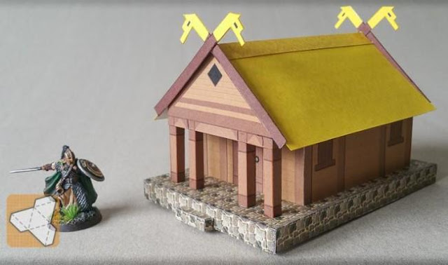 how to make paper house model