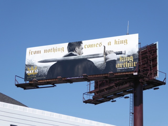 King Arthur Legend of the Sword movie billboard